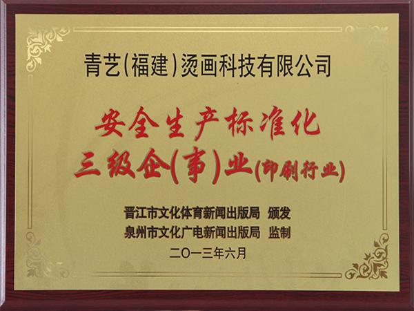青艺烫画企业证书